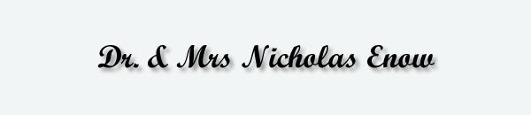 Dr & Mrs Nicholas Enow